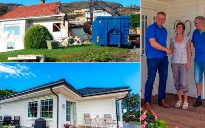 Åshild og Leif-Paul rev alt og bygget nytt på Ekerhovd