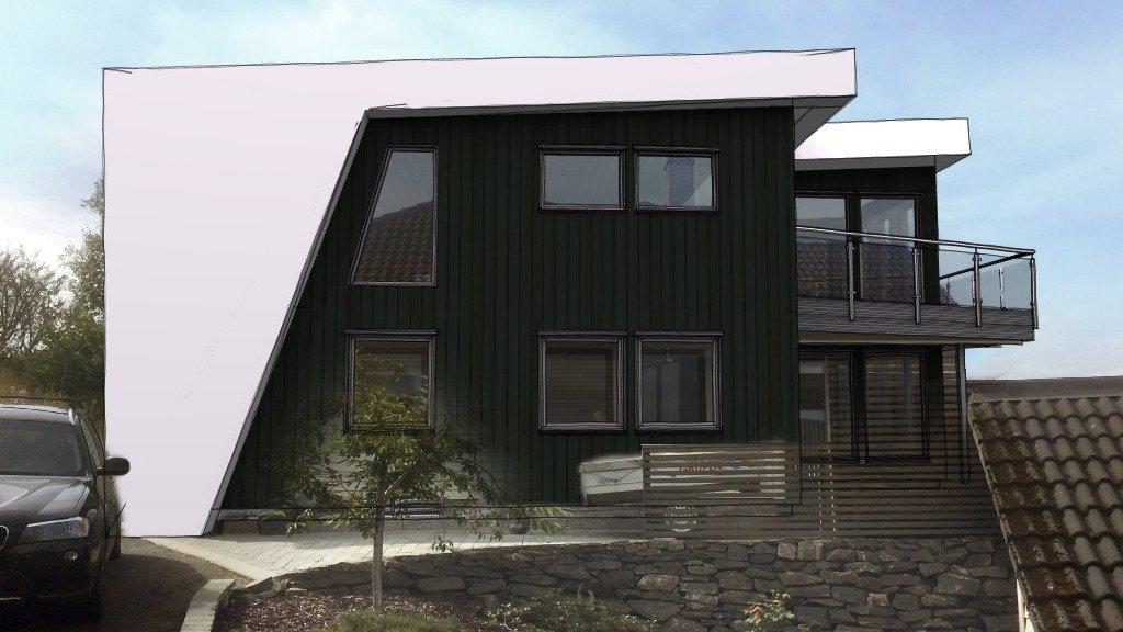 Nytt takløft og modernisert bolig i Bergen