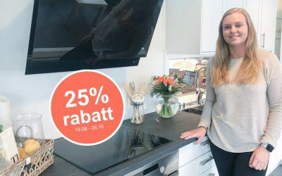 Kjøkkenkampanje: Få 25% rabatt på ditt nye kjøkken