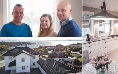 Enebolig i Sund: Bli med inn i det nye huset til Ståle og Tove på Førdestraumen