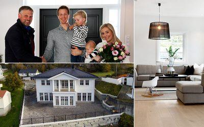 Herskapelig Enebolig: Bli med hjem til Linn Cesilie og Kristian på Straume