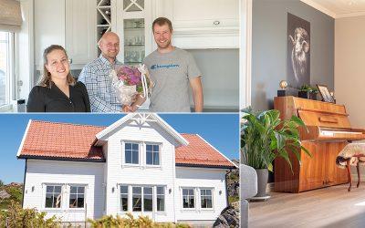 Bli med inn i den nye boligen til Silje og Ole på Kausland i Sund