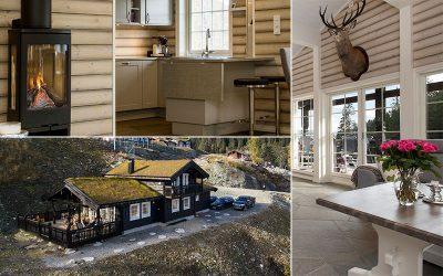 Hytte i Tråstølen på Voss? Familien Telle byttet ut campingvognen med denne
