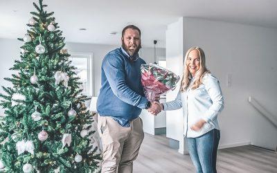 Vilde og Aleksander flyttet inn i ny bolig på bare 6 dager og kom seg i hus til jul