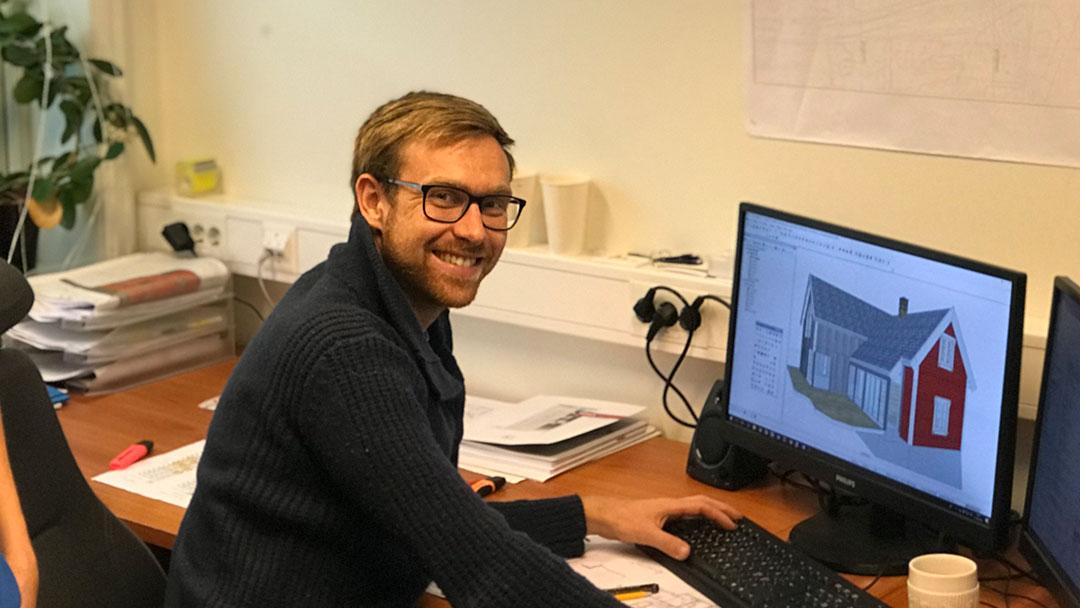 Hans Christian Algrøy tegner boliger fra scratch