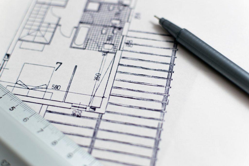 blåkopi og tegninger av bygg, arkitekt bergen, arkitekttegnede hus bergen, anbefalt arkitekt