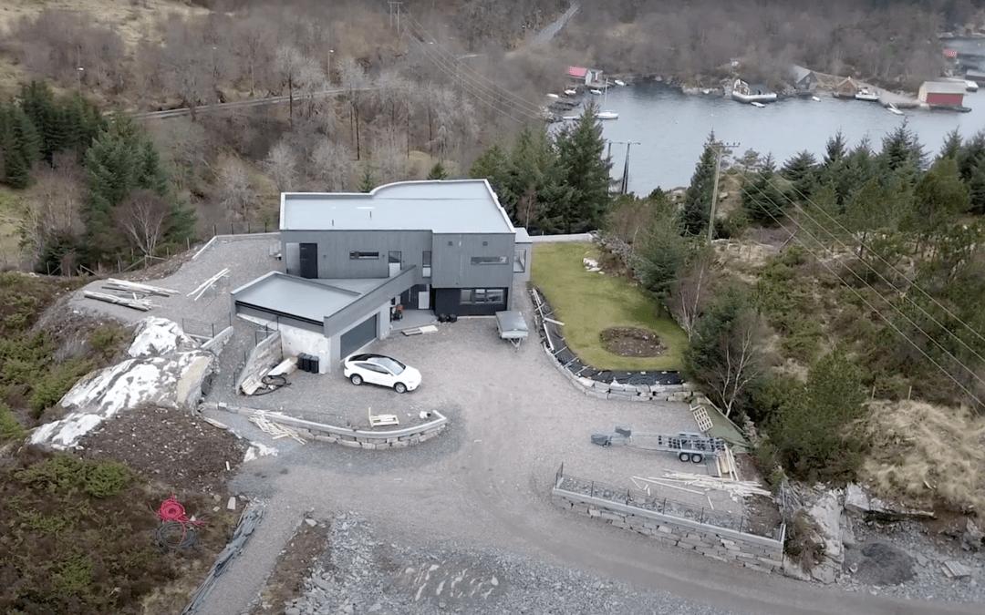 Knalltøff funkisbolig bygget på Trengereid, Sotra